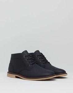 Pull&Bear - uomo - scarpe da uomo - stivaletto desert traforato - blu - 17165012-I2015
