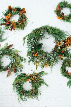 Citrus wreaths can easily transition from fall to winter holidays…