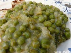 Petits pois braisés aux oignons nouveaux et à la salade façon Jamie Oliver