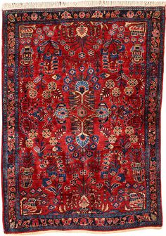 Sarouk rug  Central Persia  circa 1920  size approximately 3ft. 3in. x 4ft. 8in.