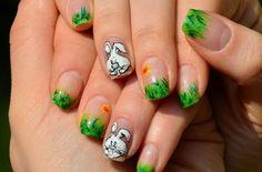 Easter Nail Srt: Green Light Easter Nail Art Design ~ Nail Art Inspiration