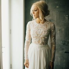 Major dress love for this wedding dress from @lovelybride captured by @philchester // See more from this gorgeous #Brooklyn wedding (where the groom @seangcreations did the bride's hair ❤️❤️) #onGWS today #weddingdress #bridalfashion