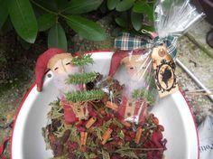 Santa ornie by mylittlebitofcountry on Etsy