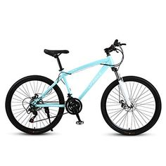 RSJK Adult mountain bike bicycle 26 inch aluminum alloy wheel transmission system Male and female students off-road bicycle white - UKsportsOutdoors High Carbon Steel, Cycling Gear, Road Bikes, Alloy Wheel, Aluminium Alloy, Cross Country, Bicycles, Mountain Biking, Offroad