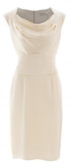 Section Cowl Dress with Obi Belt