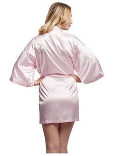 Sexy Yukata Night Robe Short Satin Wedding Bride Bridesmaid Robes With Clear  Rhinestones-Bride Bridesmaid Edition Dressing Gown c232266db