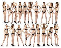 Full length portrait of a beautiful young models in black bikini Fotos De Stock Sin Royalties Gratis Female Pose Reference, Pose Reference Photo, Drawing Reference Poses, Drawing Poses, Female Modeling Poses, Female Poses, Poses Modelo, Model Poses Photography, Poses References