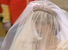 July Lady Diana Spencer marries Prince Charles at St. Lady Diana looking very pensive under all that veil . Princess Diana Wedding Dress, Princess Bride, Princess Diana Pictures, Lady Diana Spencer, Prince Charles, Charles And Diana, Royal Brides, Royal Weddings, Royal Wedding 1981