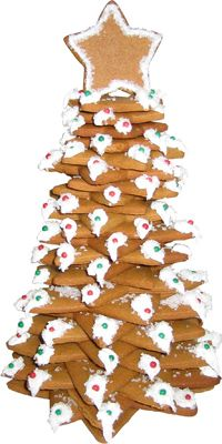How to make a star gingerbread Christmas tree. Instructions and cookie cutter source. www.CopperGifts.com