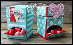 Mini Candy Dispenser - Erica Cerwin,  I created these cute little candy dispenser for my Whole Lotta Love Project Planner. It features the Language of Love stamp sets. For more details, please check out my blog: Pink Buckaroo Designs
