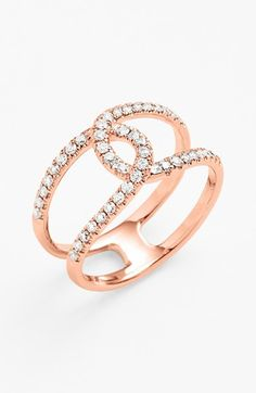 Bony Levy 'Knot' Diamond Cocktail Ring (Nordstrom Exclusive) available at Pink Jewelry, I Love Jewelry, Diamond Jewelry, Jewelry Rings, Jewelry Box, Jewelry Accessories, Jewelry Design, Unique Jewelry, Diamond Knot