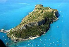 Isola di Dino. Calabria. italia