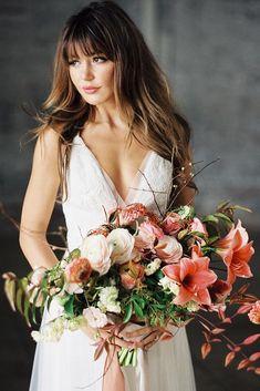 wedding hairstyles bridal dresses v neck lunademarephoto