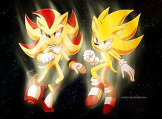Shadow the Hedgehog and Sonic the Hedgehog - Super Shadow and Super Sonic... Wow, whoever they're about to fight doesn't stand a chance!