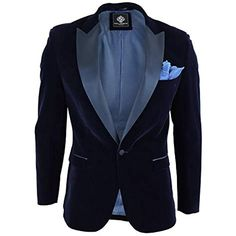 Veste Homme Blazer Doux Velours Bleu Marine Satin Noir Style Smoking habillé  Formel  costumes  costumesnearme  costumesdeutsch  costumeshalloween ... 90fa25625c2