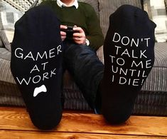 Gamer socks- gamer gift- mens socks- mens gift- adult stocking filler- computer gift. $9.56 #affiliate