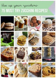 75 must try zucchini recipes- use up your zucchini!