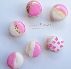 Electric Pink Macarons by Nectar & Stone