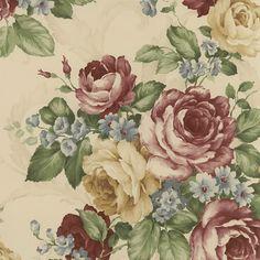 Interior Place - Beige CH22529 Rose Wallpaper, $17.99 (http://www.interiorplace.com/beige-ch22529-rose-wallpaper/)
