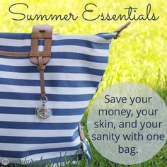 Packing a bag with basic summer essentials comes in handy during the summer. Think of it as a diaper bag for older kids...only much cooler.