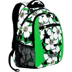 Big Bloom, Kelly, Black Curve Daypack for Women - High Sierra Middle School Backpacks for Girls, back to school