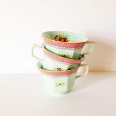 TEACUPS ADAMS IRONSTONE  Set of 3 tea cups by AnnmarieFamilyTree