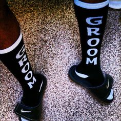 Groom socks... ✔ Check  - Naas