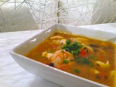 Green Curry Soup with Shrimp and Wild Rice (Spicy!)