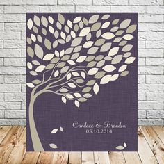 Wedding Leaf Alternative Guest Book Tree by TheFreckledOwlPrints
