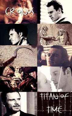 GREEK MYTHOLOGY MEME ® MINOR DEITIES & TITANS 12/30  ∟Michael Fassbender as C R O N O S  In the classic and most well known version of Greek mythology, Cronos was the leader and the youngest of the first generation of Titans. He overthrew his father Uranus and ruled during the mythological Golden Age, until he was overthrown by his own son Zeus and imprisoned in Tartarus. Cronos was usually depicted with a sickle, which was the instrument he used to castrate and depose Uranus.