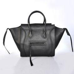 Сумка CELINE (Селин) Luggage bag из натуральной кожи черная. Размер 29х29х25см #18992