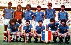 Michel Platini, Dominique Rocheteau, Fifa, Equipement Football, World Cup Teams, Delon, Association Football, Team Photos, World Star