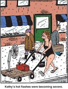 Kathy's hot flashes... LOL! For more hilarious humor and jokes for women visit www.bestfunnyjokes4u.com/lol-best-funny-cartoon-joke-2/