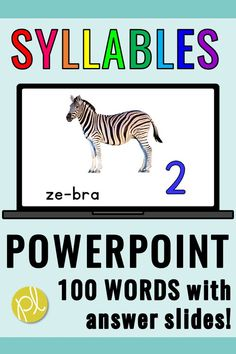Practice identifying words with 2, 3, and 4 syllables using this huge PowerPoint set! There are 100 words with real world pictures, PLUS answer slides. I use these in my small groups, but they would be perfect for independent literacy centers using iPads or chromebooks. #syllables #literacycenters