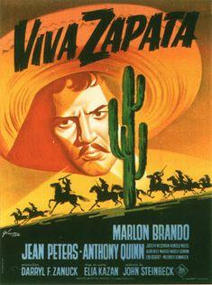 """¡Viva Zapata! (1952) """"Viva Zapata!"""" de Elia Kazan - tt0045296 Jean Peters, Elia Kazan, Marlon Brando, Classic Films, Western Art, Vintage Movies, Film Movie, Golden Age, Filmmaking"""