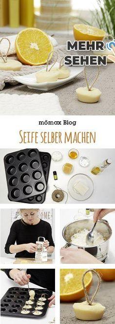 Seife selber machen! Mit Honig und Orange - genau richtig für die Kälte ja ... -   #