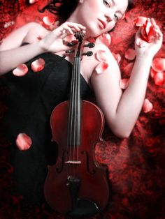 The red violin by ~DarkVenusPersephonae on deviantART