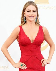 At the Emmys, Sofia Vergara rocked $7 million in Lorraine Schwartz jewelry: ruby, sapphire and Colombian emerald earrings, a 21-carat Asscher-cut diamond ring and a 40-carat Colombian emerald and rose-cut diamond ring.