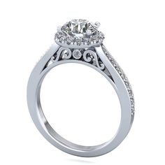 platinum forever one moissanite engagement by fabiandiamonds