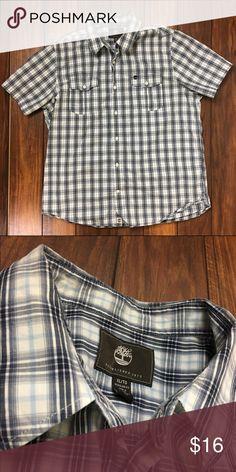 Timberland Short Sleeve Plaid Shirt Men's Essential Plaid Shirt Short Sleeve Button Up Timberland Shirts Casual Button Down Shirts
