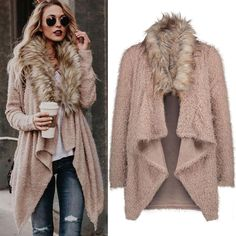 Women Knit Long Sleeve Tops Cardigan Sweaters Parka Outerwear Coat     Features: 1.It is made of high quality materials,durable enought for your daily wearing 2