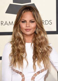 Chrissy Teigen - The Best Hairstyles of the 2015 Grammy Awards