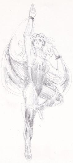 Storm pencil sketch