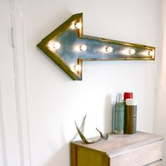 Awesome Arrow Light Fixture from Against the Woodgrain - really want to do something fun like this in my new den!