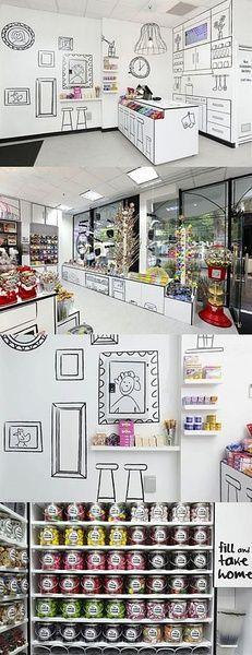 手绘风格的糖果小铺】这是澳大利亚的一家糖果店,糖果+可爱的手绘风格,孩子们估计一进去就不愿意出来了吧