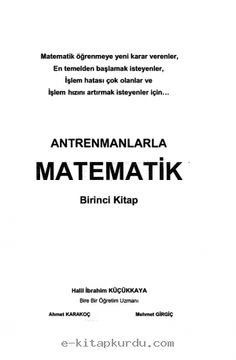 <p>Antrenmanlarla Matematik-12019<br></p> 1