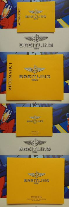 Manuals and Guides 93720: Breitling Pilots Divers Dress Watch Instruction Manual Book Guide Booklet Auto 1 -> BUY IT NOW ONLY: $49.99 on eBay!