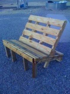 Pallet chair - perfect for cuddling by the fire :-)