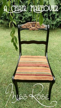 Carved-Flower-Back Chair DIY - Redo It Yourself Inspirations : Chair Makeover: Miss Rose