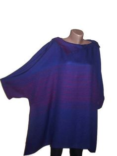 Plus Size Clothing Boho Tunic Cotton Tunic Blue and by PlusStyle, £24.00